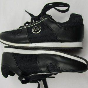 Black Michael Kors Lace Up Fashion Sneakers